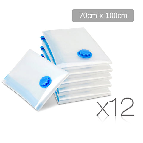 Set of 12 Vacuum Storage Bags 70 x 100cm