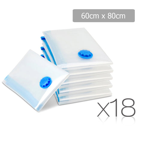 Set of 18 Vacuum Storage Bags 60 x 80cm