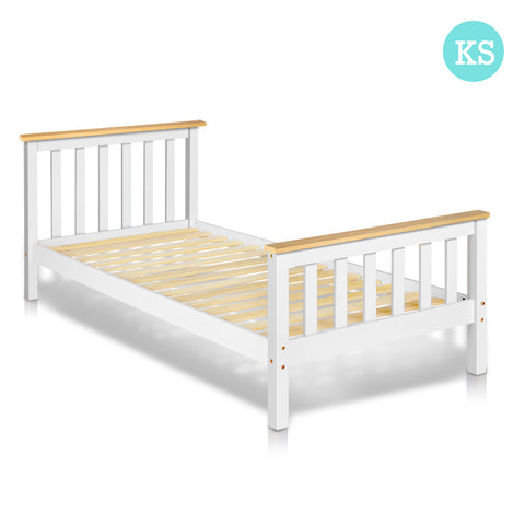 Artiss King Single Size Pine Wood Bed Frame