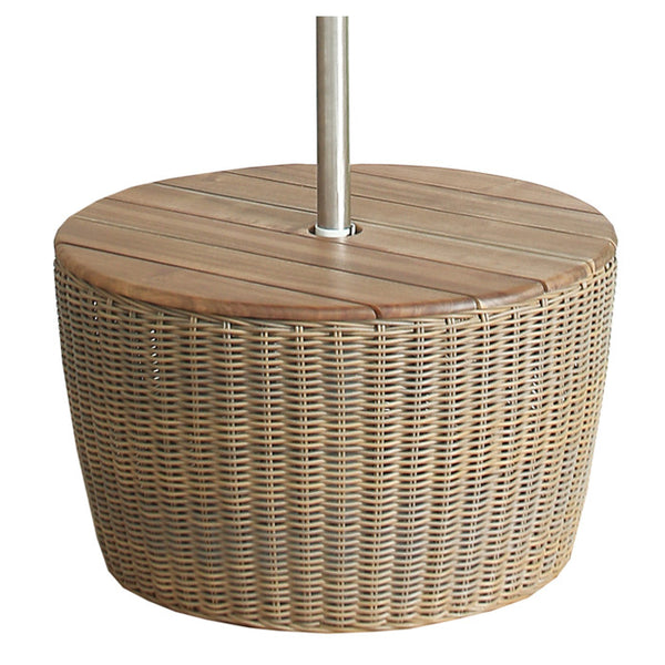 RATTAN UMBRELLA BASE TABLE