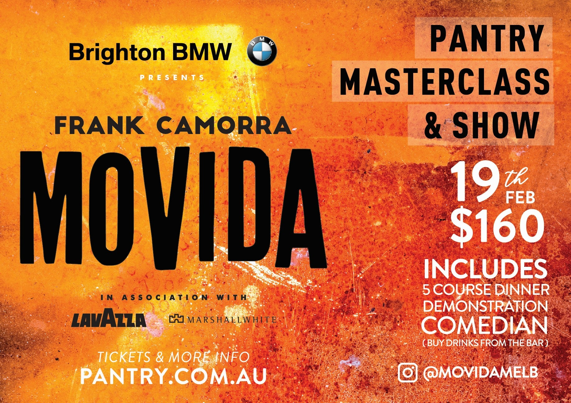 MoVida Masterclass & Show - 19 FEB 2019