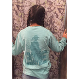 CLEARANCE ITEM Adult Proud Buck Girl Seafoam Long Sleeve
