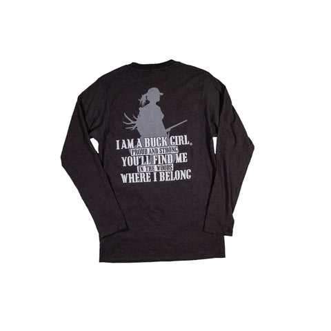 Adult Proud Buck Girl Long Sleeve