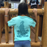 Adult Proud Buck Girl Short Sleeve in Celadon