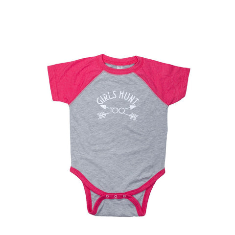 Infant Girls Hunt Too Onesie