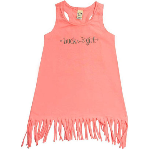 Infant/Toddler Coral Fringe Dress