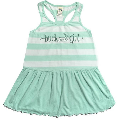 Infant/Toddler Mint Stripe Dress