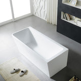 Avis Corner Skew Back to Wall Freestanding Bathtub