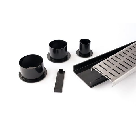 DIY Black Flow Pattern Shower Grate Modular Kit