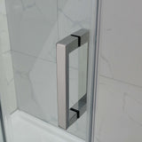 Square Frameless Adjustable Wall to Wall Sliding Shower Screen