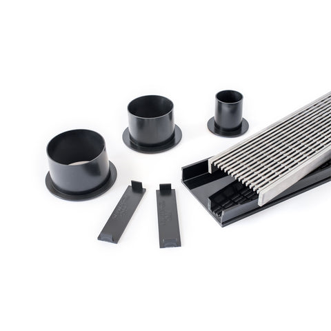 DIY Black Wedge Wire Shower Grate Modular Kit