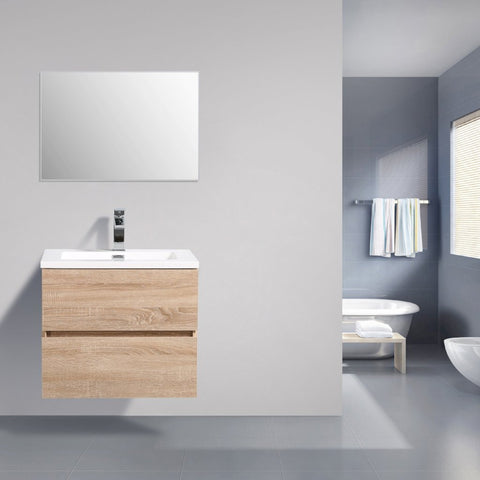 Avia 600 mm White Oak Timber Vanity By Indulge®