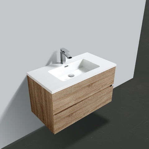 Avia 900 White Oak Timber Vanity By indulge®
