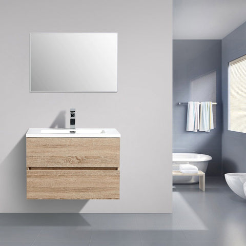 Avia 750 mm White Oak Timber Vanity By Indulge®