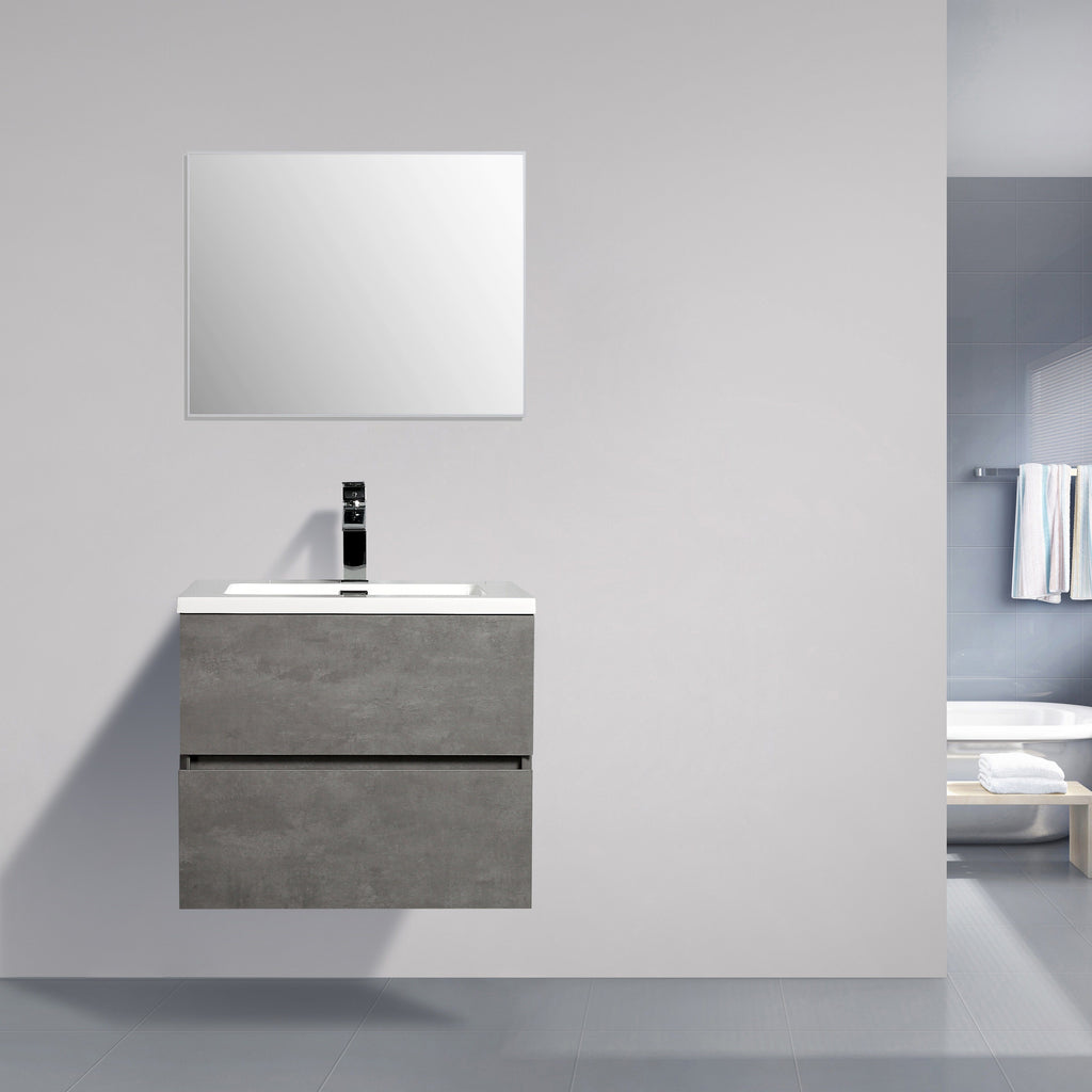 Avia 600 mm Grey Ash Timber Vanity By Indulge®