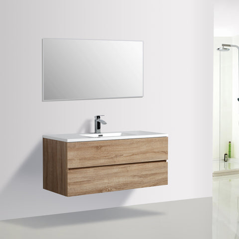 Avia 1200 White Oak Timber Single Bowl Vanity By indulge®