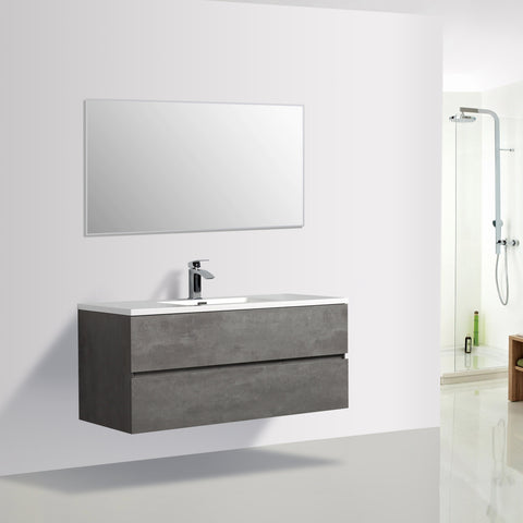 Avia 1200 Grey Ash Timber Single Bowl Vanity By indulge®
