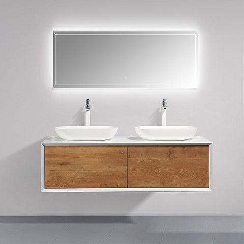 Fiona 1400 Stone F. Oak Timber Vanity By indulge®
