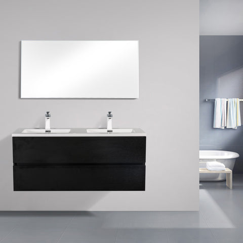 Avia 1200 Black Timber Double Bowl Vanity By indulge®