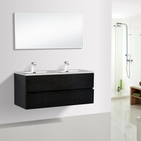 Avia 1200 mm Black Timber Double Bowl Vanity By Indulge®
