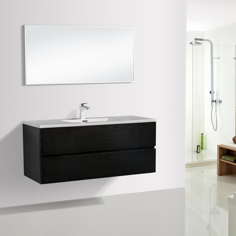 Avia 1200 Black Timber Single Bowl Vanity By indulge®