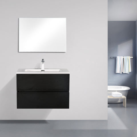 Avia 750 Black Timber Vanity By indulge®