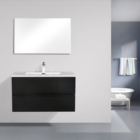 Avia 900 Black Timber Single Bowl Vanity By indulge®