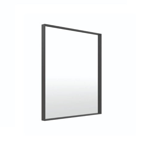 Thermo | Matte Black Square Framed Mirror