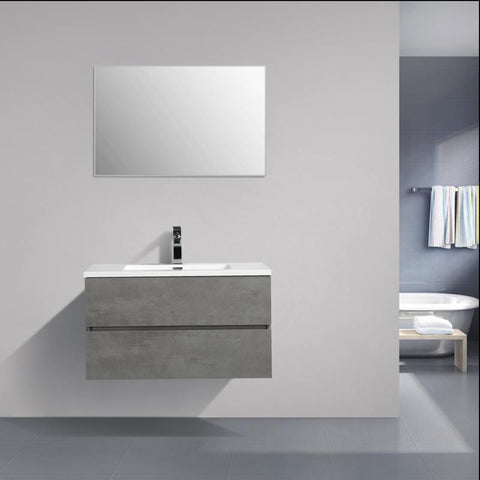 Avia 900 Grey Ash Timber Single Bowl Vanity By indulge®