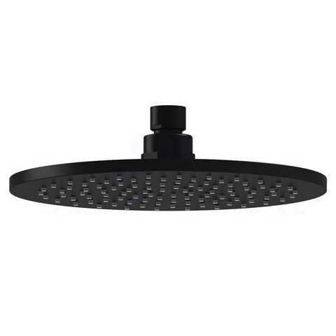 Novara 200 mm Black Shower Head