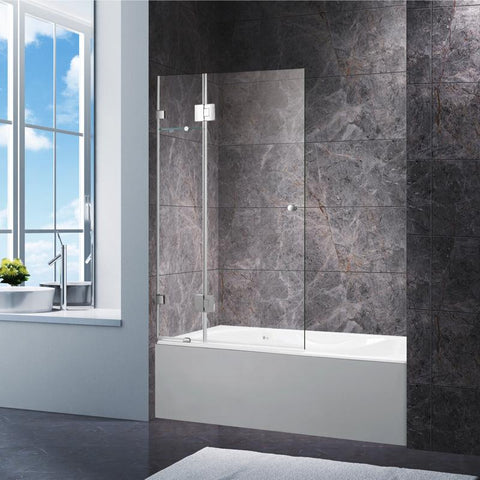 400 x 400 x 1450 mm Pivot Over Bath Screen