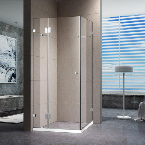 1200 x 1200 mm Rectangular Frameless Shower Screen