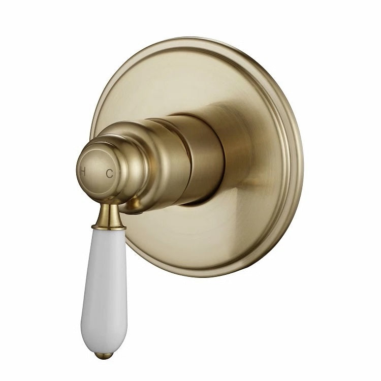 Bordeaux Traditional Brushed Bronze Shower Mixer