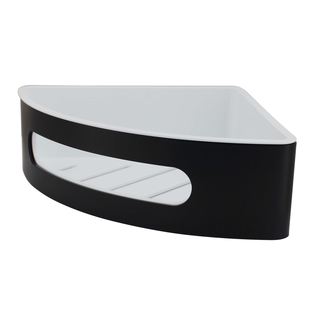 Corner Single Black Finish Shelf