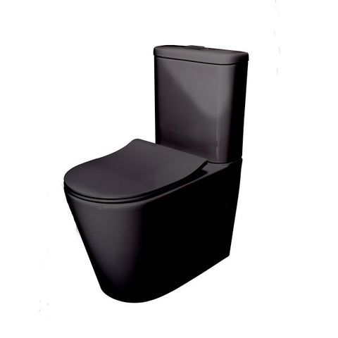 Feanza Black Tornado X Wall Faced Toilet Suite
