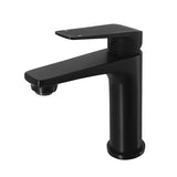 Cascade Matte Black Basin Mixer - Acqua Bathrooms