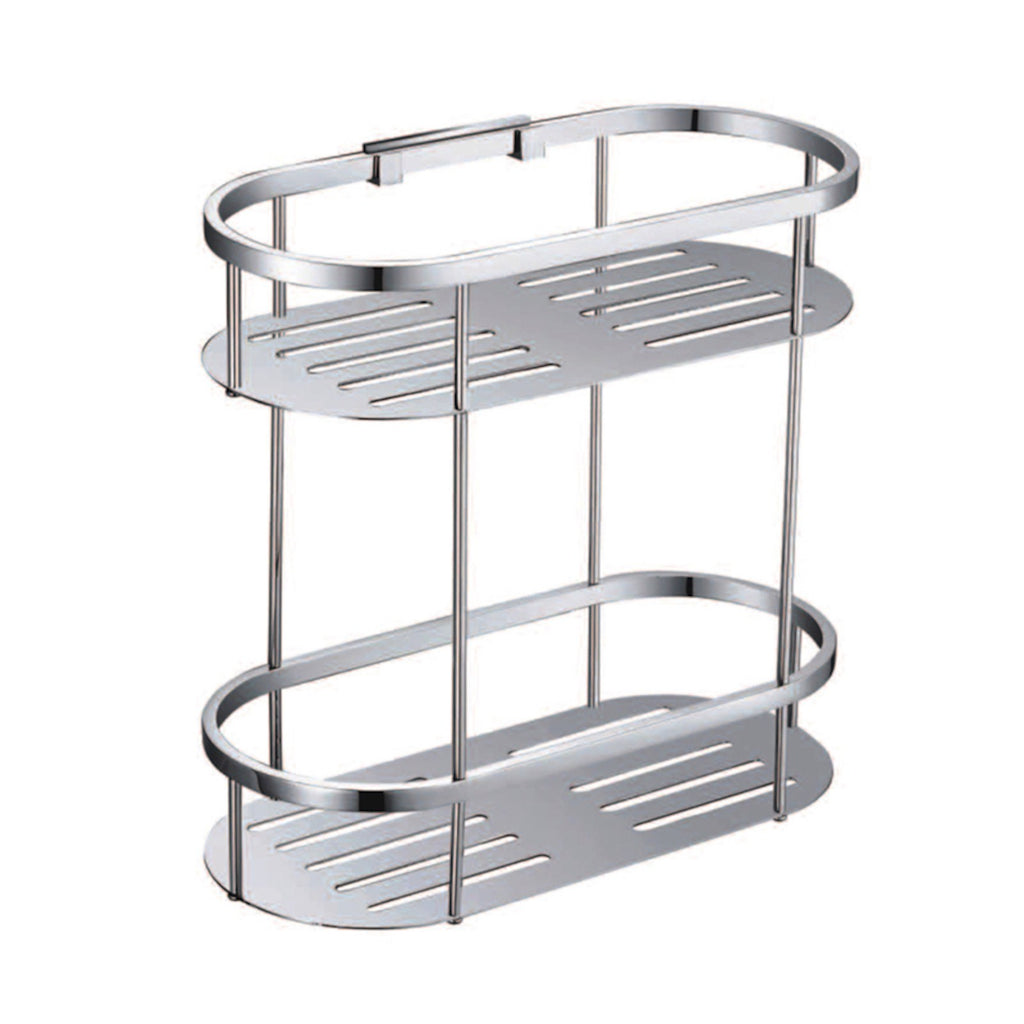 Round Double Stainless Steel Shelf