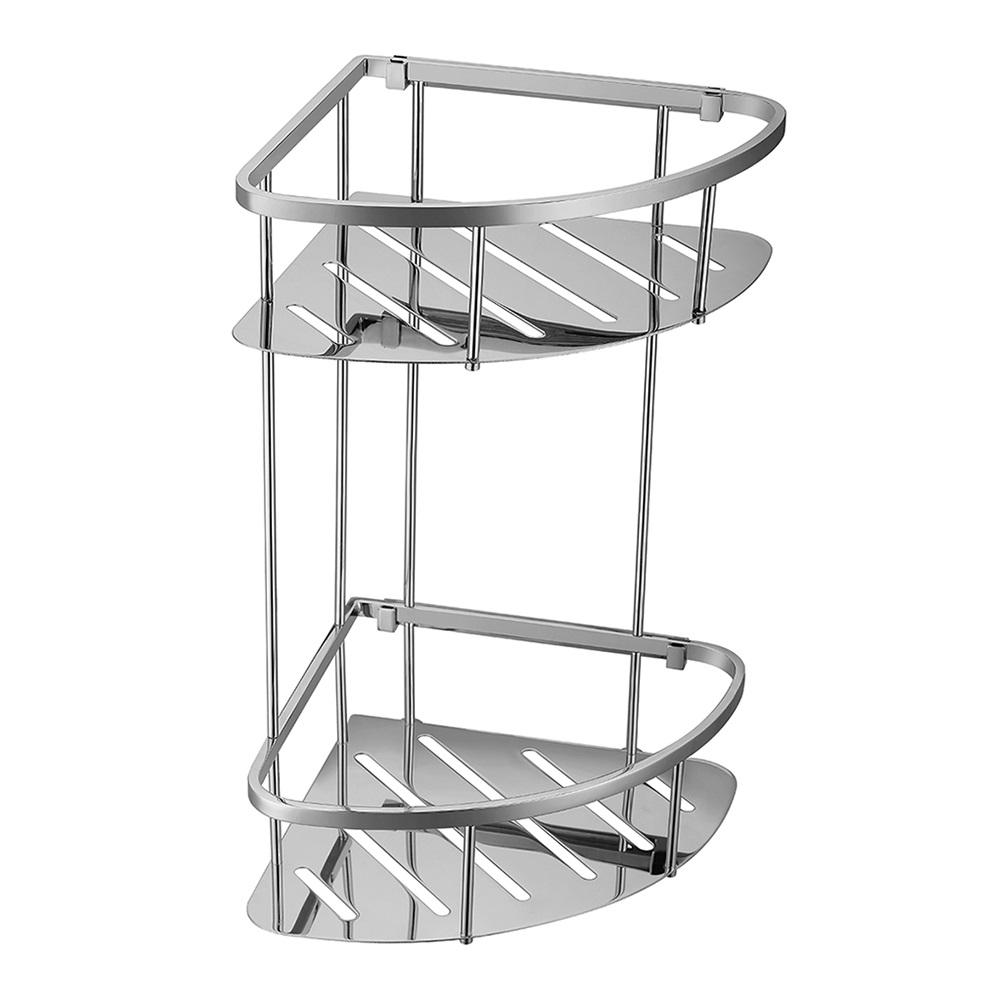 Corner Double Stainless Steel Shelf