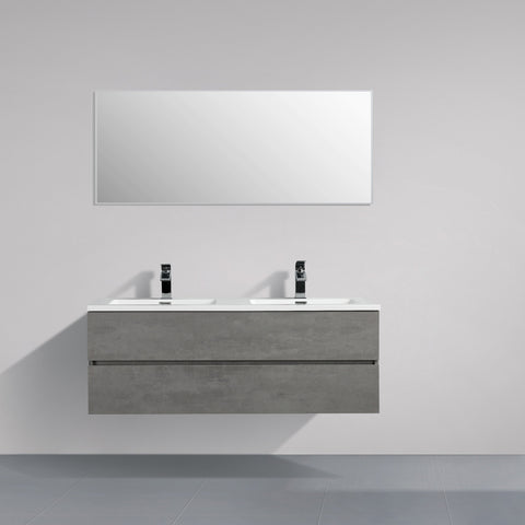 Avia 1200 mm Grey Ash Timber Double Bowl Vanity By Indulge®