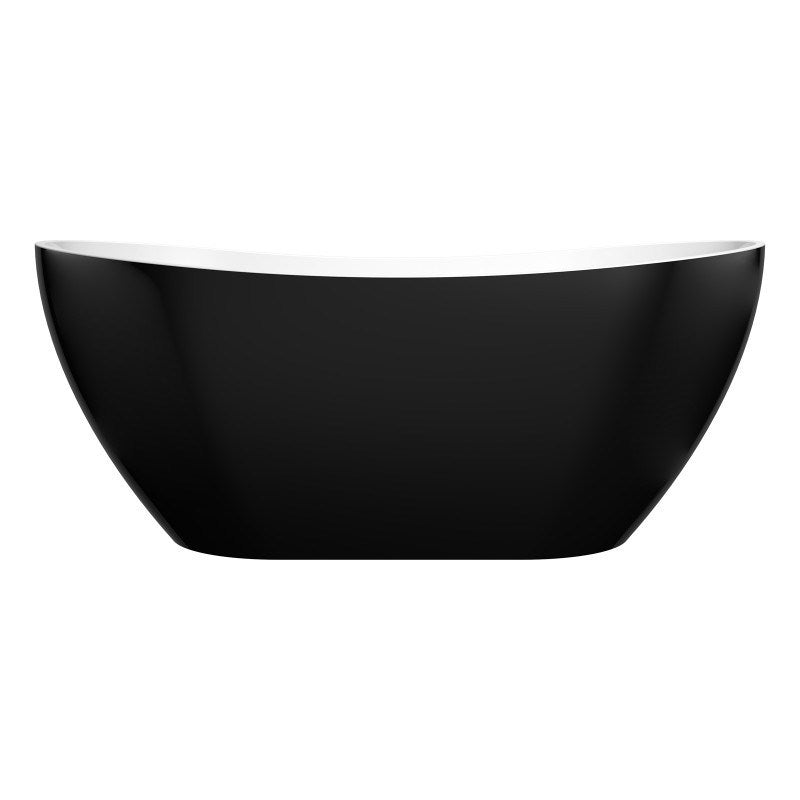 Evie 1660 Black High End Freestanding Bathtub