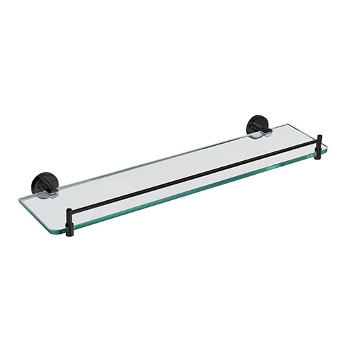 Eva Black Glass Shower Shelf