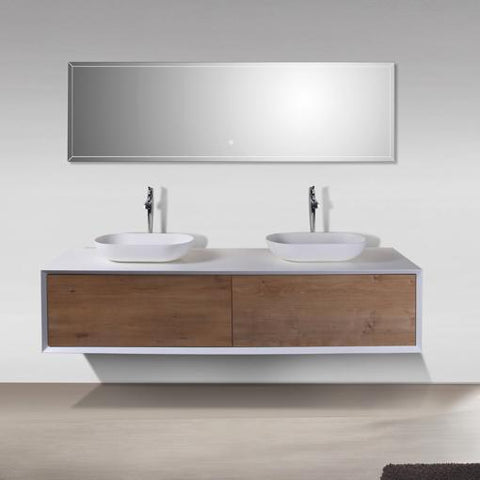 Fiona 1800 Stone Fine Oak Timber Vanity By indulge®