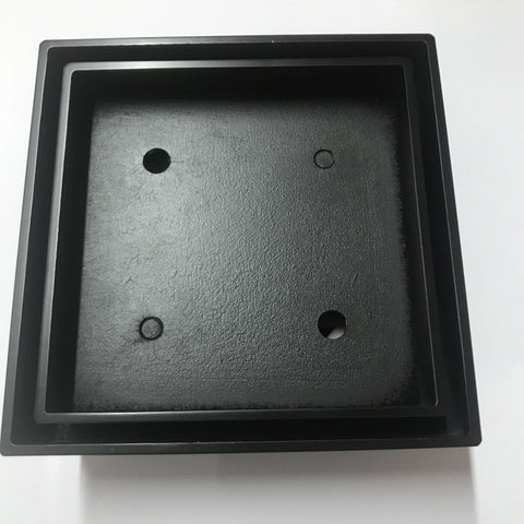 100 mm Black Square Floor Waste