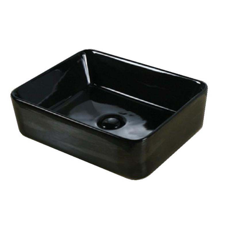 Above Counter basin 480 x 370 x 130 mm Gloss Black