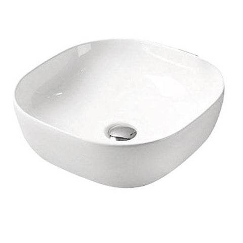 Gloss White Above Counter Basin 410 x 410 x 150mm