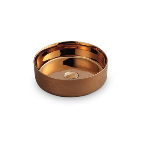 Jewel Rose Gold Glazing Basin 355 x 355 x 120mm