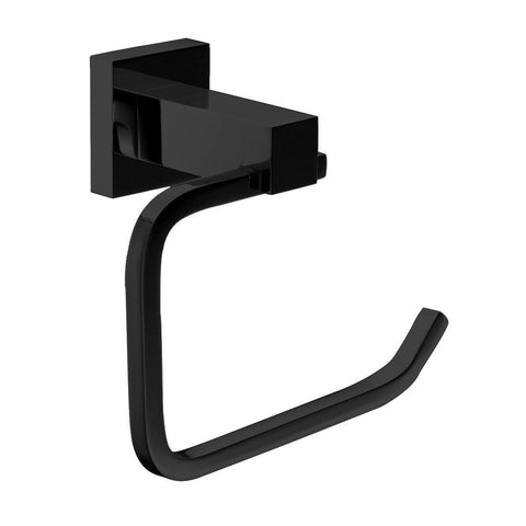 Messina Black Toilet Roll Holder