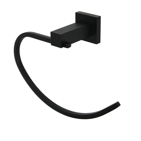 Messina Black Towel Ring
