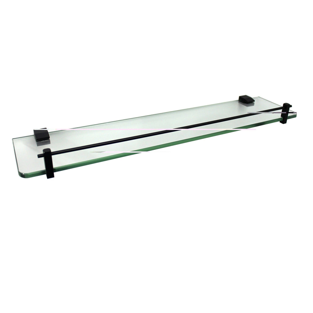 Messina Black Glass Shower Shelf