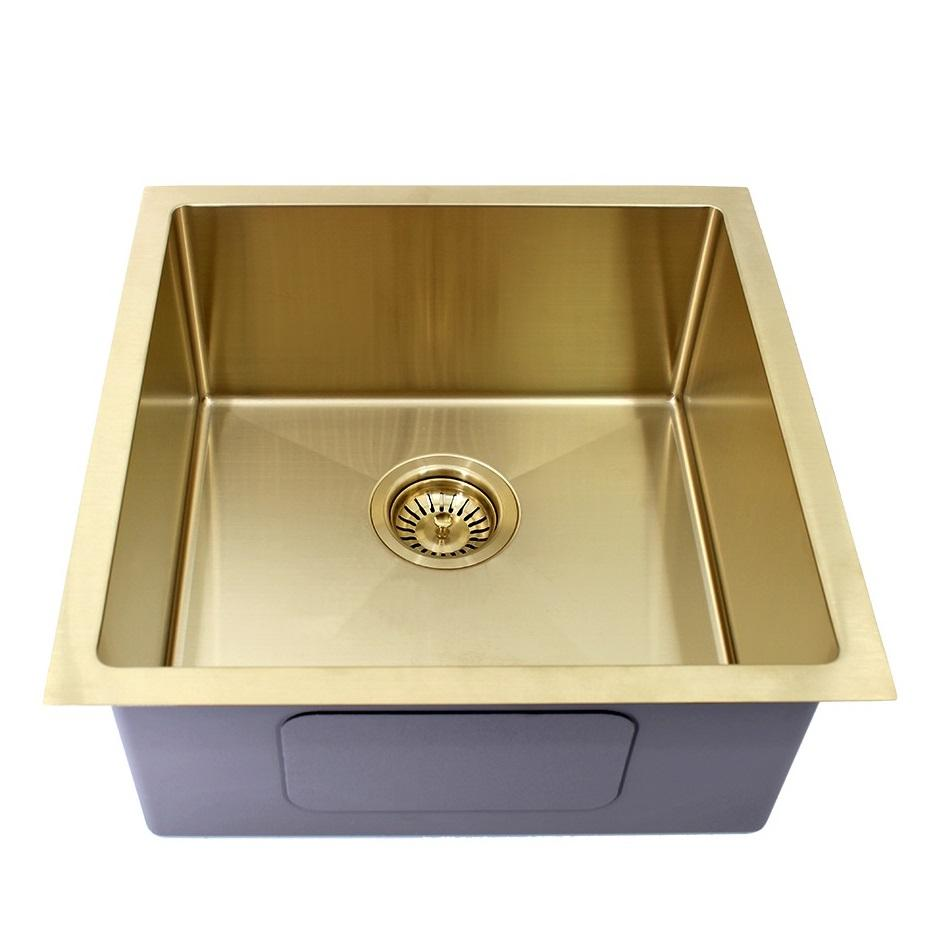 450 x 450 x 200 mm Gold Kitchen Sink